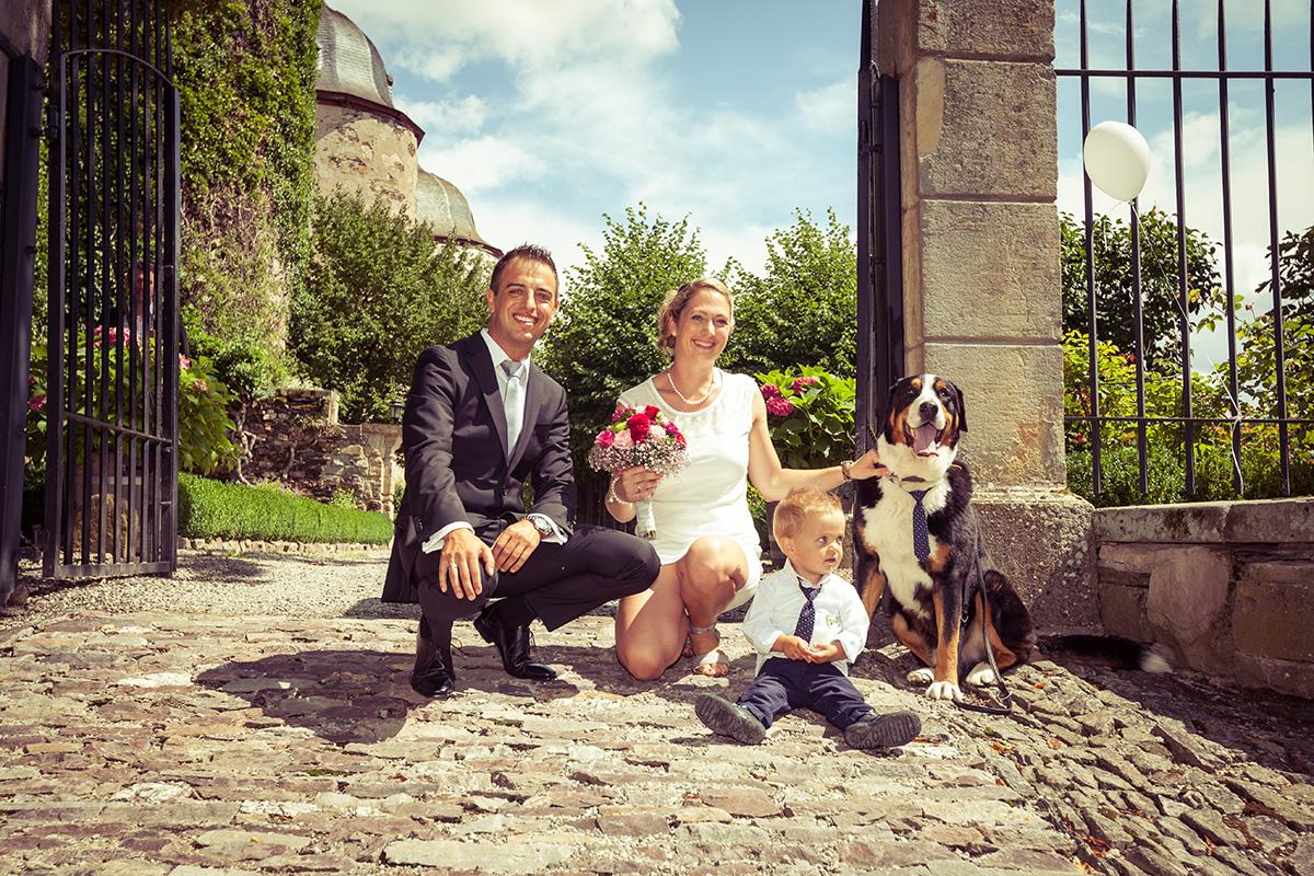 Hochzeitsfoto Schloß Gemünden